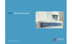 Milestone - Model DMA-1 - Compact Direct Mercury Analyzer Brochure