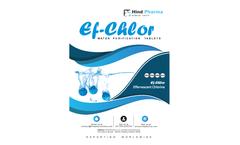 Ef-chlor - Water Purification Tablets - Brochure