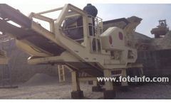 Mobile stone crusher - Video