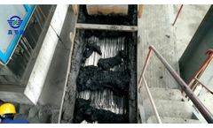 Municipal sludge drying - Video