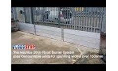 Flood Barriers - Nautilus 200 over 1.5m wide - Floodstop Ltd Video