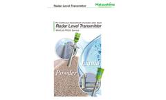 Matsushima - Radar Level Transmitter for Powder  Brochure
