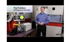 Interferometer measuring in vibration performs metrology with noise-free interferometry data - Video