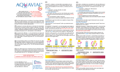 AquaVial Well Water Test kit - How To Use Instructions - Brochure