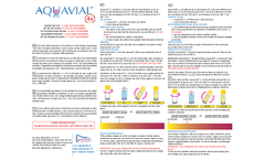 AquaVial - Water Test Kit - E. Coli and Coliform - How to Use Instructions - Brochure