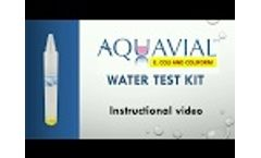 Aquavial E coli and Coliform Test kit - Video