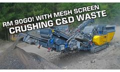 On-Site Recycling With Rubble Master - Video