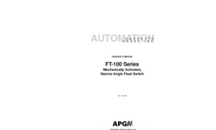 APG - FT-100 Series - Mechanically Activated - Narrow Angle Float Switch - Manual