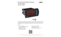 DDD Din Mounted Digital Display Panel Meter