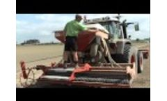 Dairon pneumatic turf seeder SMA 305 Video