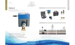 PWG ll Pulse Wave Generator Finding Pipes Under Difficult Conditions - Brochure
