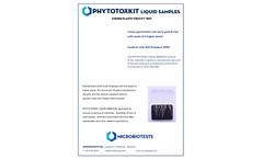 PHYTOTOXKIT liquid samples - Higher Plants Toxicity Test - Brochure