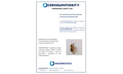 Microbiotests Ceriodaphtoxkit F - Ceriodaphnia Toxicity Test Kit - Brochure