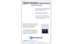 Microbiotests - Phytotoxkit Liquid Samples - Higher Plants Toxicity Test Kit - Brochure
