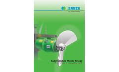 Bauer - Model MSXH - Submersible Motor Mixer Brochure