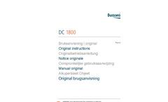 Model DC 1800 eco - 1-Phase Dust Extractors Brochure