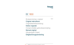 Model DC 1800 eco XL - 1-Phase Dust Extractors Brochure