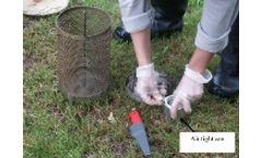 Lipophilic sampling for groundwater testing