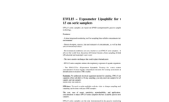 ExposMeter - Model EWL15-Tox - Lipophilic Toxicity Water Sampler 15 cm Brochure