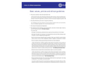 Basic Values, Policies and Ethical Guidelines Brochure