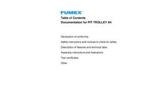 Fumex - Pit Trolley - Manual