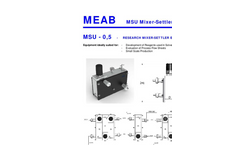 Model MSU - 0,5 - Mixer-Settler Units - Brochure