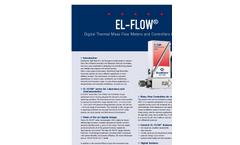 Model EL-FLOW and IN-FLOW Series - Digital GAS Mass Flow Meters & Controllers Brochure
