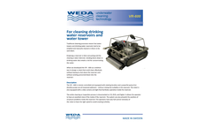 Weda VR600 Water Reservoirs and Water Towers Cleaning System - Brochure