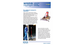 Weda - Model YT-600 - Underwater Cleaning Robot for Sediment (Sludge) Removal - Brochure