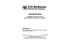 310 Airsense Infrared Co2 Analyzer - Instructions Manual