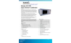 Sabio 4010M Gas Dilution Calibrator - Brochure