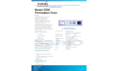 Sabio - Model 2500 - Permeation Oven Brochure