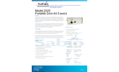 Sabio - Model 2020 - Portable Zero Air Source Brochure