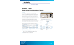 Sabio - Model 2505 - Portable Permeation Oven - Brochure
