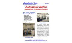 Aqualogic - Automatic Batch Wastewater Treatment System - Datasheet