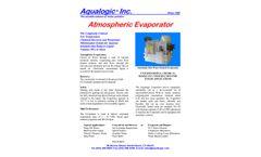Aqualogic - Atmospheric Evaporator System - Datasheet