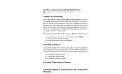 Confined Spaces & Electrical Safety Pack Training Courses - Datasheet