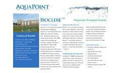 Aquapoint Bioclere - Model OH - Two-Stage Hybrid Biological Treatment Process Unit - Brochure