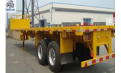 2 Axles 35T Flatbed Container Transport Semi Truck Trailer