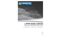 Raymetrics LR111-ESS-D200 3D Aerosol LIDAR Aviation | Mining | Meteorology - Brochure