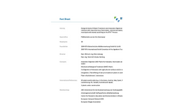 Company Overview Fact Sheet