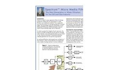 Eco-Tec Spectrum - Micro Media Water Filter - White Paper