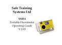STS - Model SMF4 - Portable Fluorimeter Operating Guide V.2.03 - User Manual