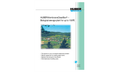 HUBER MembraneClearBox® - The biological sewage plant for up to 150 PE