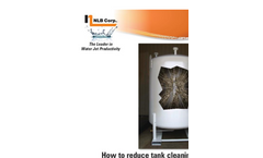 High Pressure Water Jets: Tank Cleaning