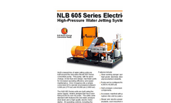 605 Series Electric High Pressure Water Jetting Unit