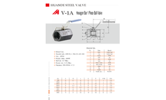 Penglai - Model DN8-DN50 - Hexagonal Bar 1 Piece Ball Valve Brochure