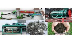 Methods and equipment for the treatment of duck manure into organic fertilizer