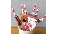 Custom Christmas Paper Straws