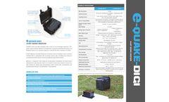 Model e-QUAKE-DIGI - 24-Bit Seismic Digitizer - Datasheet